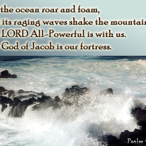Psalm 46:3-7 christian wallpaper free download. Use on PC, Mac, Android, iPhone or any device you like.