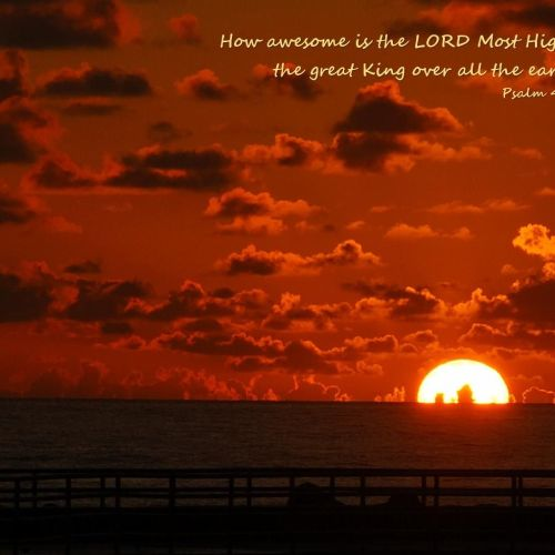 Psalm 47 – Sun christian wallpaper free download. Use on PC, Mac, Android, iPhone or any device you like.