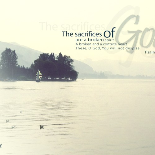 Psalm 51:17 christian wallpaper free download. Use on PC, Mac, Android, iPhone or any device you like.