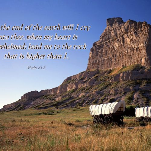Psalm 61:2 christian wallpaper free download. Use on PC, Mac, Android, iPhone or any device you like.