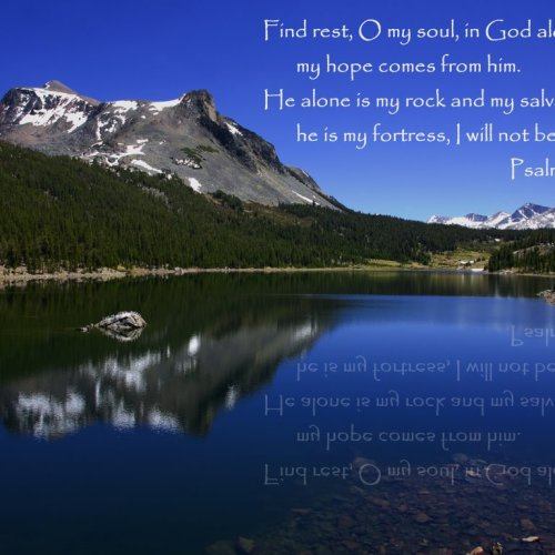 Psalm 62:5-6 christian wallpaper free download. Use on PC, Mac, Android, iPhone or any device you like.