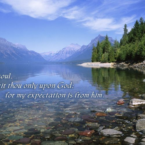 Psalm 62:5 christian wallpaper free download. Use on PC, Mac, Android, iPhone or any device you like.