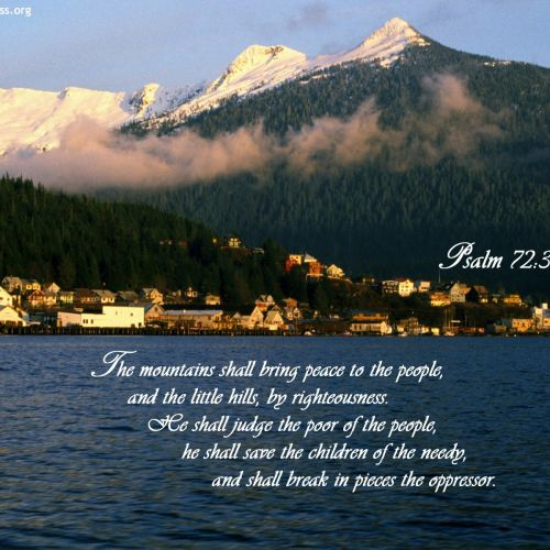 Psalm 72:3-4 christian wallpaper free download. Use on PC, Mac, Android, iPhone or any device you like.