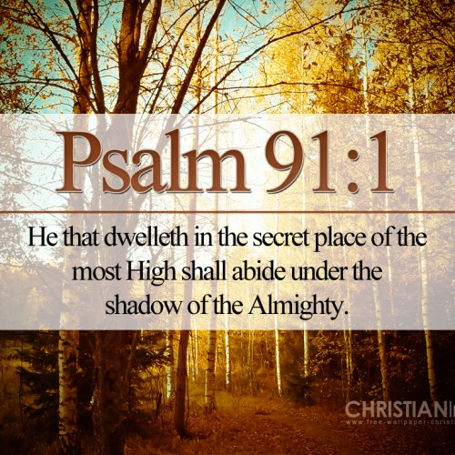 Psalm 91:1 christian wallpaper free download. Use on PC, Mac, Android, iPhone or any device you like.