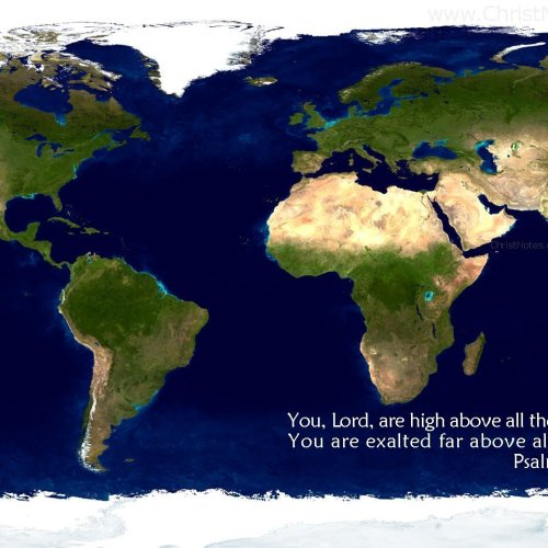 Psalm 97:9 christian wallpaper free download. Use on PC, Mac, Android, iPhone or any device you like.