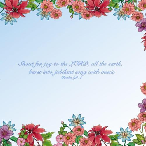 Psalm 98:4 christian wallpaper free download. Use on PC, Mac, Android, iPhone or any device you like.