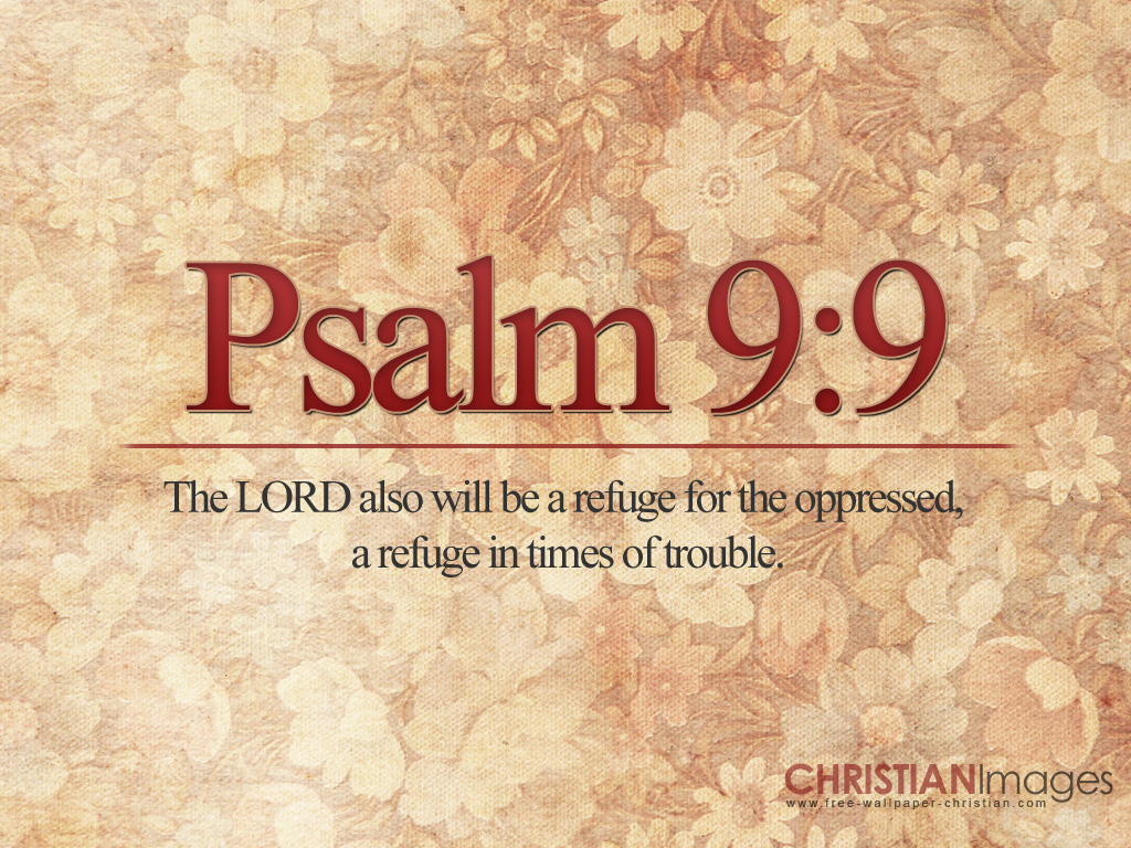 Christian wallpaper Psalm 9:9