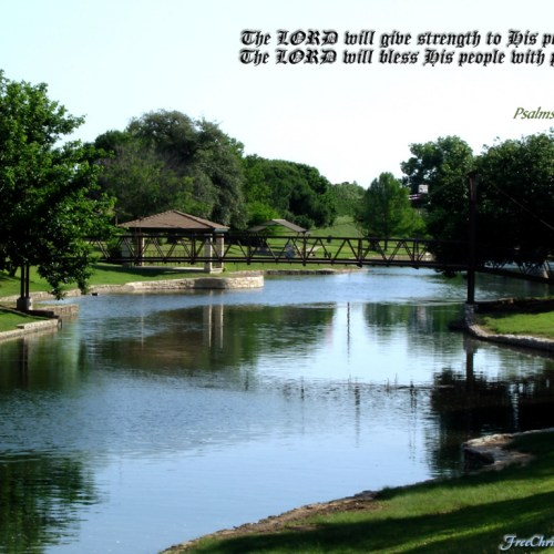 Psalms 29:11 christian wallpaper free download. Use on PC, Mac, Android, iPhone or any device you like.
