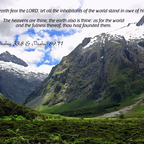 Psalms 33:8 and 98:11 christian wallpaper free download. Use on PC, Mac, Android, iPhone or any device you like.