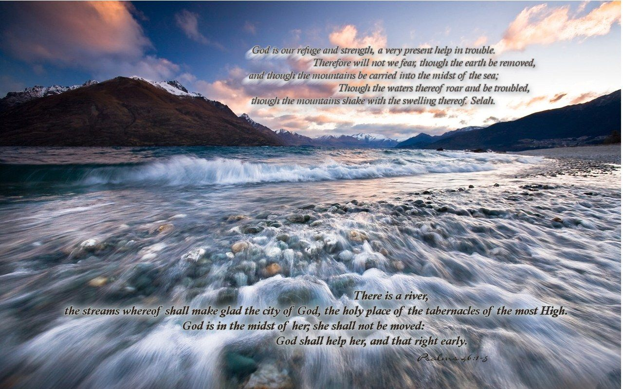 Christian wallpaper Psalms 46:1-5