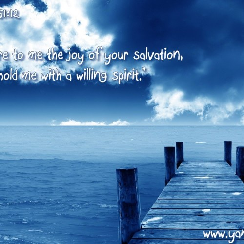 Pslm 51:12 christian wallpaper free download. Use on PC, Mac, Android, iPhone or any device you like.