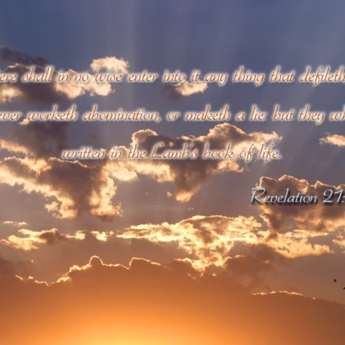 Revelation 21:27 christian wallpaper free download. Use on PC, Mac, Android, iPhone or any device you like.