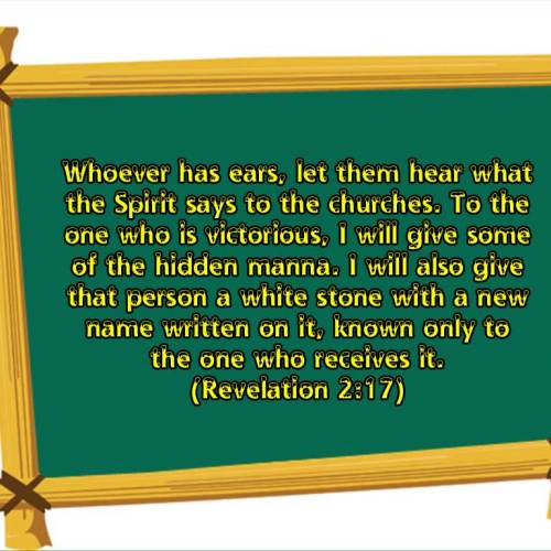 Revelation 2:17 christian wallpaper free download. Use on PC, Mac, Android, iPhone or any device you like.