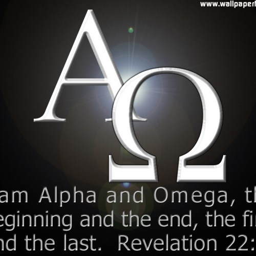 Revelation 22:13 christian wallpaper free download. Use on PC, Mac, Android, iPhone or any device you like.