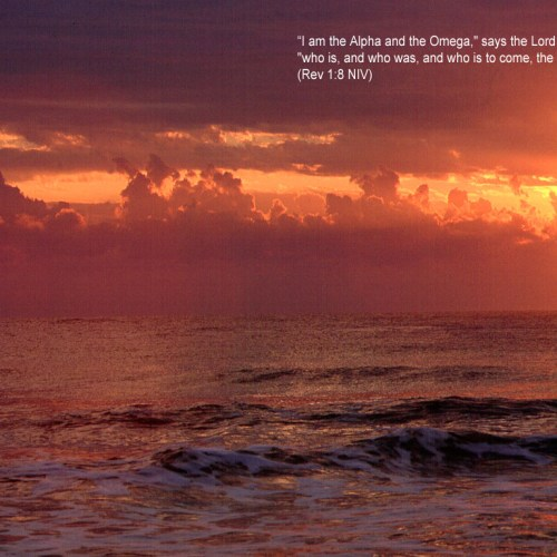 Revelations 1:8 christian wallpaper free download. Use on PC, Mac, Android, iPhone or any device you like.