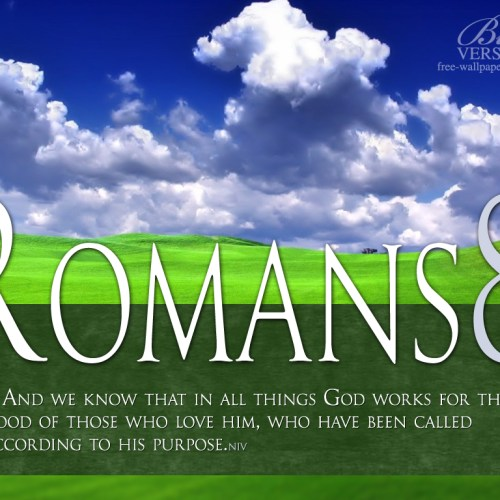 Romanos 8:28 christian wallpaper free download. Use on PC, Mac, Android, iPhone or any device you like.