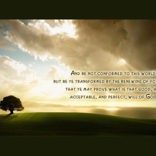Romans 12:2 christian wallpaper free download. Use on PC, Mac, Android, iPhone or any device you like.