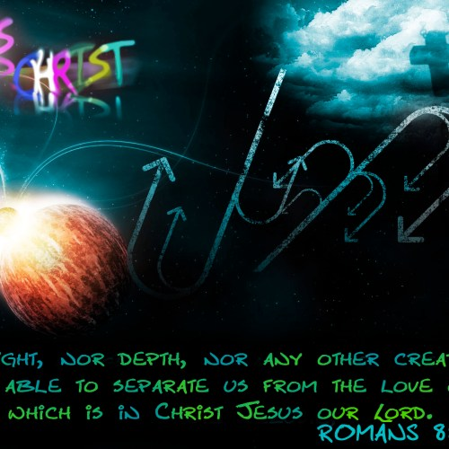 ROMANS 8;39 christian wallpaper free download. Use on PC, Mac, Android, iPhone or any device you like.