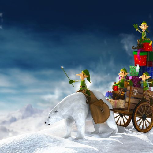 Santa´s Helpers christian wallpaper free download. Use on PC, Mac, Android, iPhone or any device you like.
