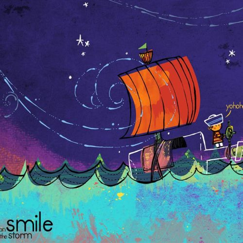 Smile in Storm christian wallpaper free download. Use on PC, Mac, Android, iPhone or any device you like.