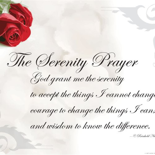 The Serenity Prayer christian wallpaper free download. Use on PC, Mac, Android, iPhone or any device you like.