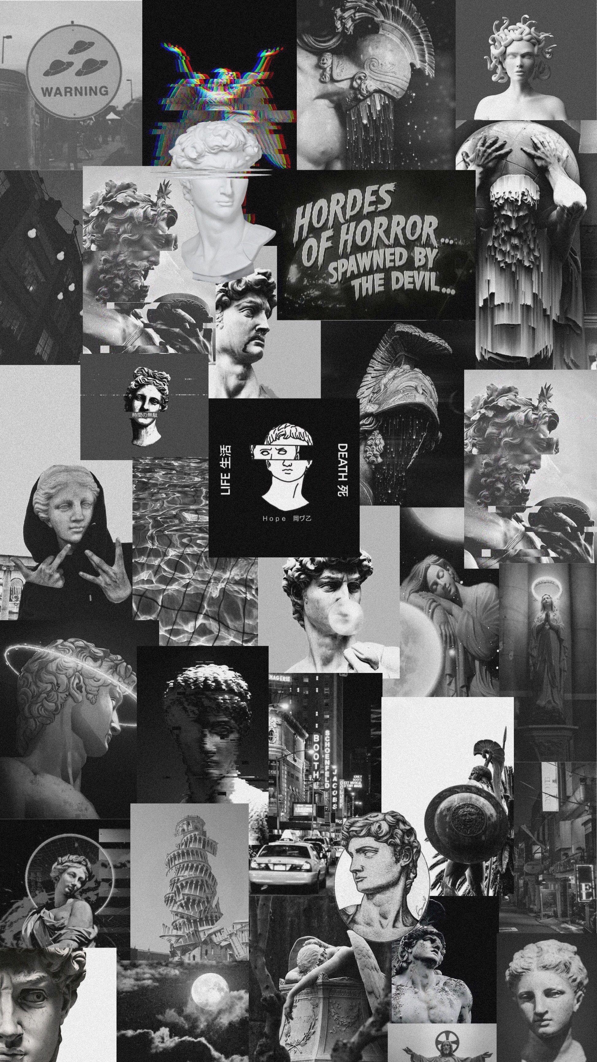 Black Collage Wallpaper : black, collage, wallpaper, Black, White, Collage, Wallpapers, Backgrounds, WallpaperAccess