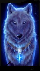 Mystical Galaxy Wolf Cool Wallpaper