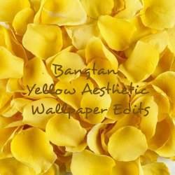 aesthetic yellow wallpapers flowers aesthetics backgrounds wallpaperaccess bangtan hd