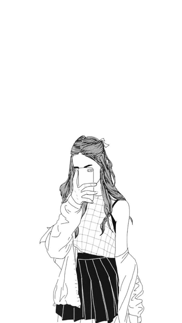 Tumblr Girl Drawing : tumblr, drawing, Drawing, Tumblr, Wallpapers, Backgrounds, WallpaperAccess