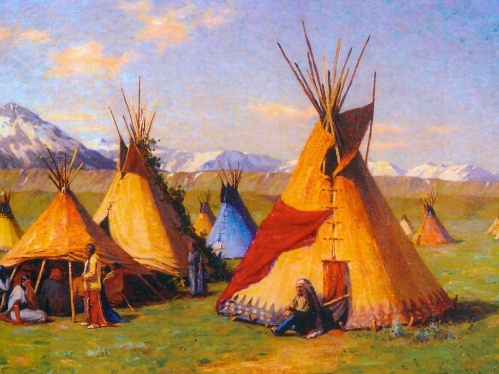 Native American Teepees Wallpapers