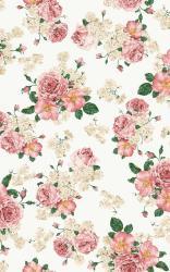 Flower Wallpaper Vintage Pink Background