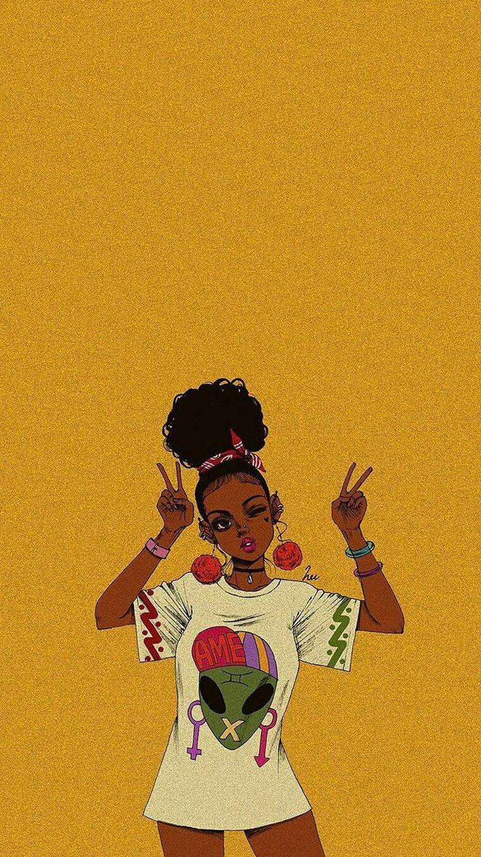 Black Girl Aesthetic Drawing : black, aesthetic, drawing, Black, Aesthetic, Wallpapers, Backgrounds, WallpaperAccess