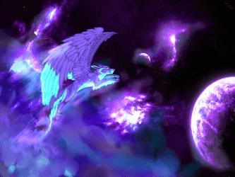 Winged Galaxy Anime Galaxy Wolf Wallpaper