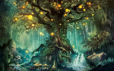 Fantasy Forest Wallpapers Top Free Fantasy Forest Backgrounds WallpaperAccess