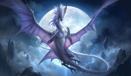 Moon Dragon Wallpapers Top Free Moon Dragon Backgrounds WallpaperAccess