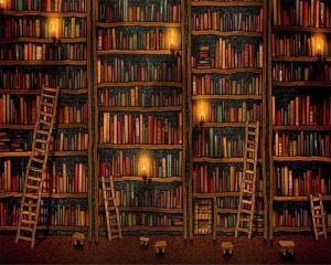 bookshelf backgrounds living bookcase wallpapers shelf bedroom ipad desktop mural beibehang wallpaperaccess decorative