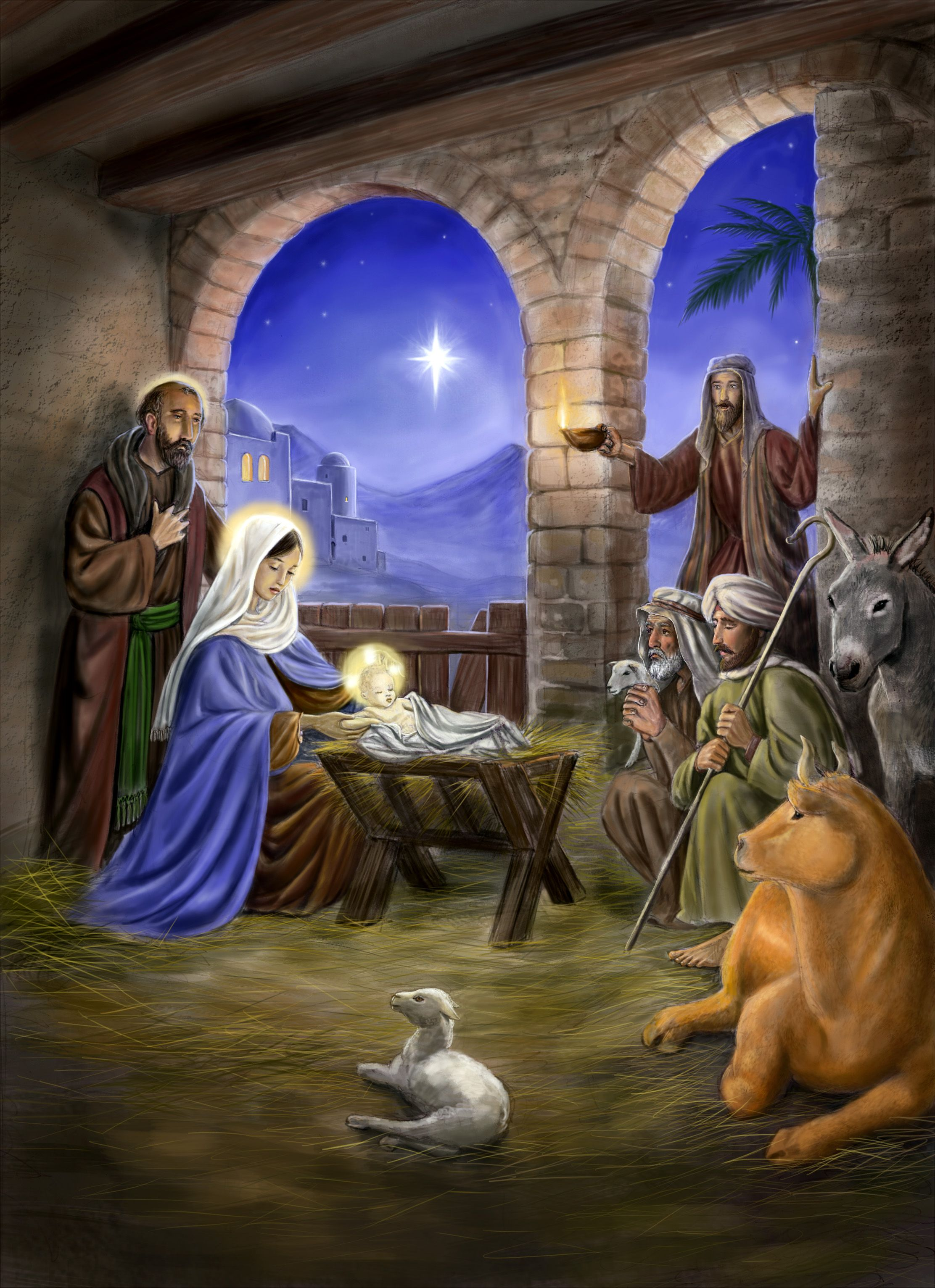 [75+] Free Nativity Scene Wallpaper on WallpaperSafari
