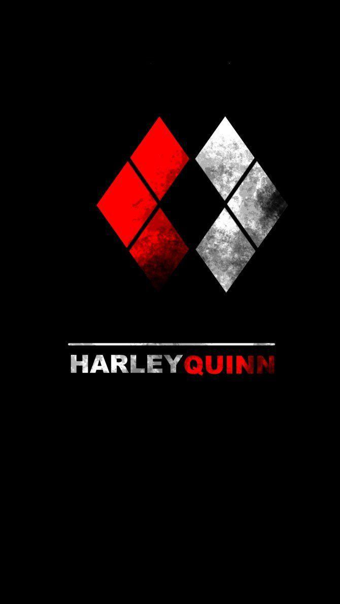 Harley Quinn Logo Wallpaper : harley, quinn, wallpaper, Harley, Quinn, Symbol, Wallpapers, Backgrounds, WallpaperAccess