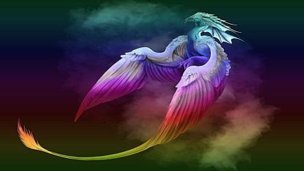 Galaxy Neon Dragon Wallpaper