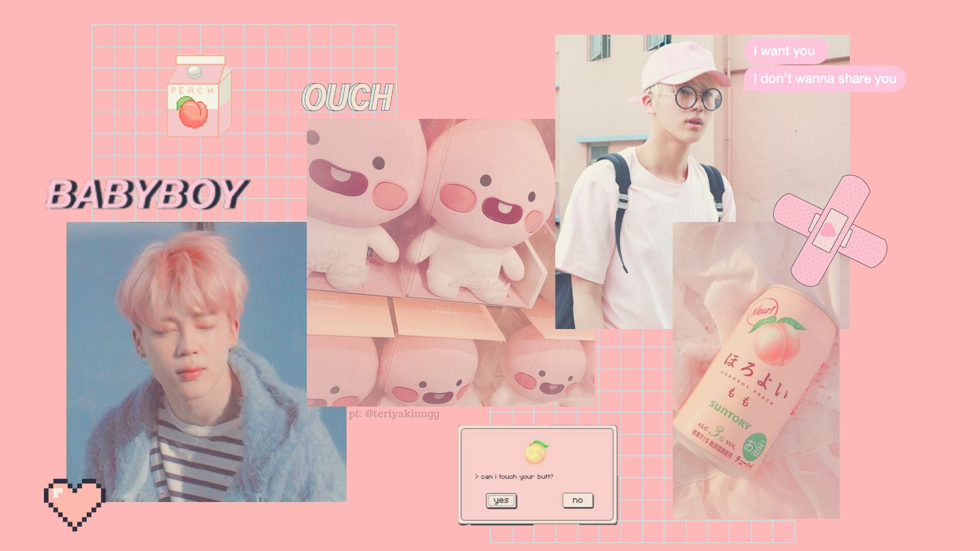 Tons of awesome bts aesthetic laptop wallpapers to download for free. BTS Pink Aesthetic Desktop Wallpapers - Top Free BTS Pink ...