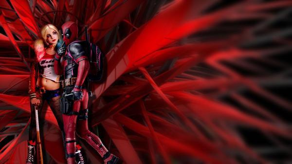 Deadpool Harley Quinn And Joker Wallpaper Imgurl