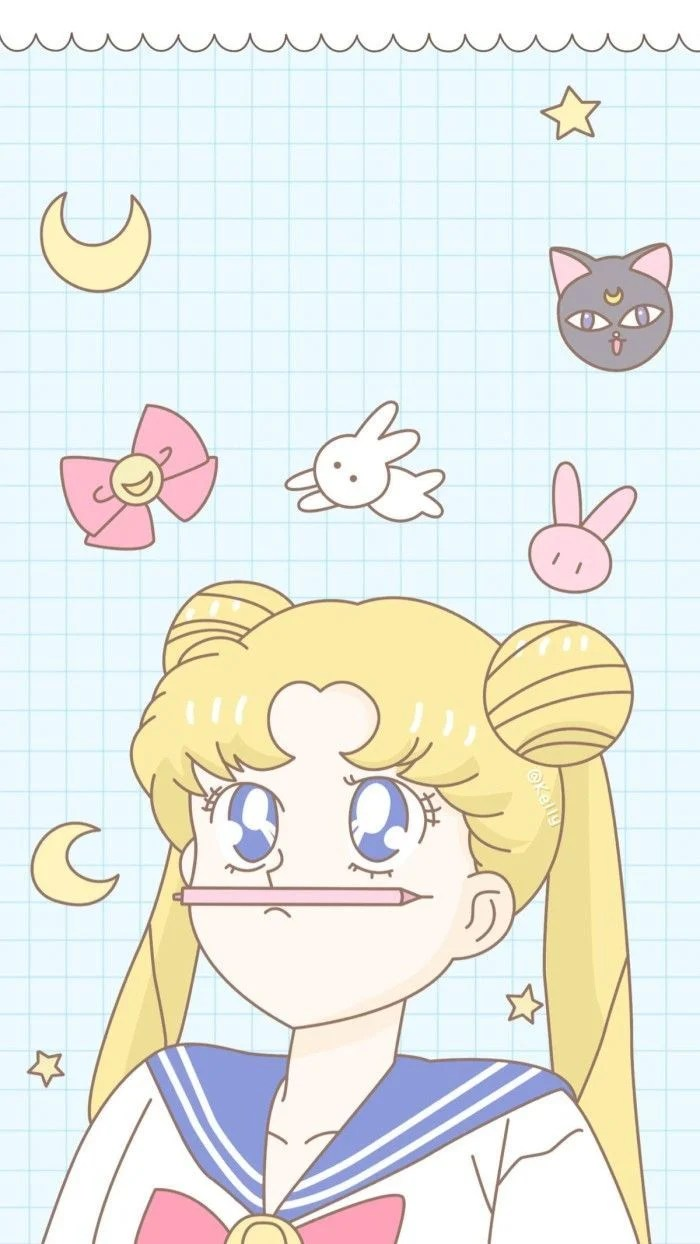 Pink Sailor Moon Wallpaper : sailor, wallpaper, Pastel, Sailor, Wallpapers, Backgrounds, WallpaperAccess