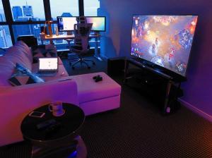 gaming gamer hue setup gamers desk jogos gameroom sala pc ps4 wallpapers guide rooms cool attic ups apartment donpedrobrooklyn philips