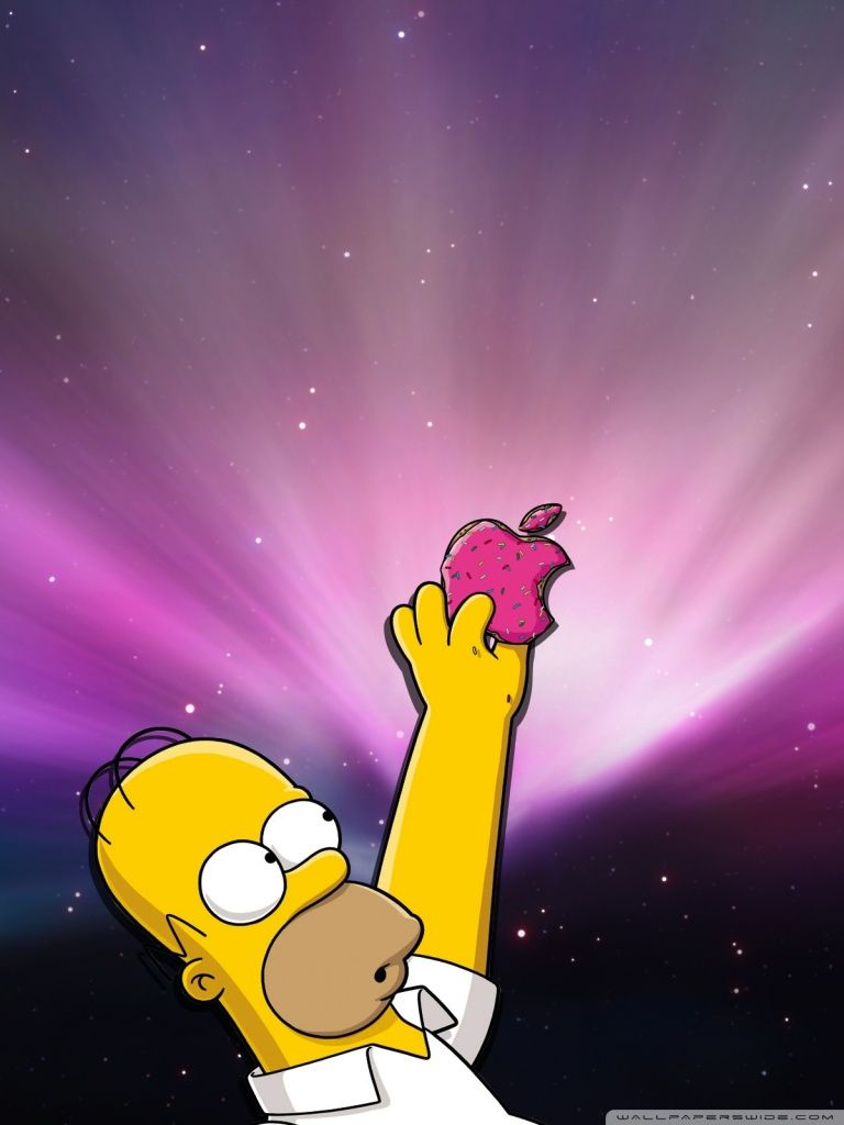 Homer Simpson Eating Donuts : homer, simpson, eating, donuts, Homer, Simpson, Donut, Wallpapers, Backgrounds, WallpaperAccess