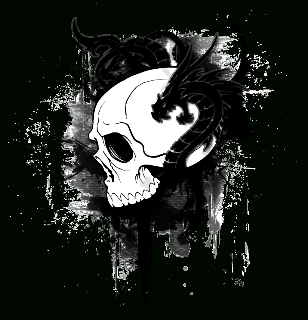 Black Dragon Skull Wallpapers