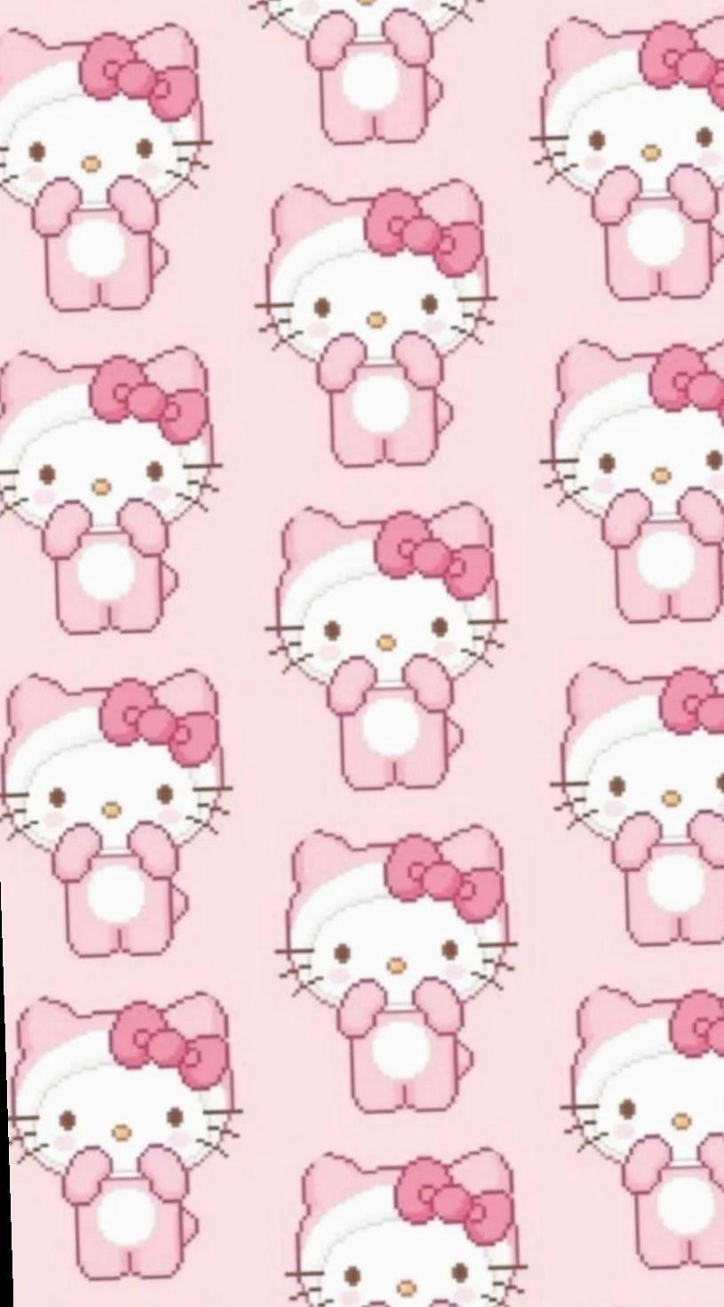 Hello Kitty Aesthetic Background : hello, kitty, aesthetic, background, Hello, Kitty, Wallpapers, Backgrounds, WallpaperAccess