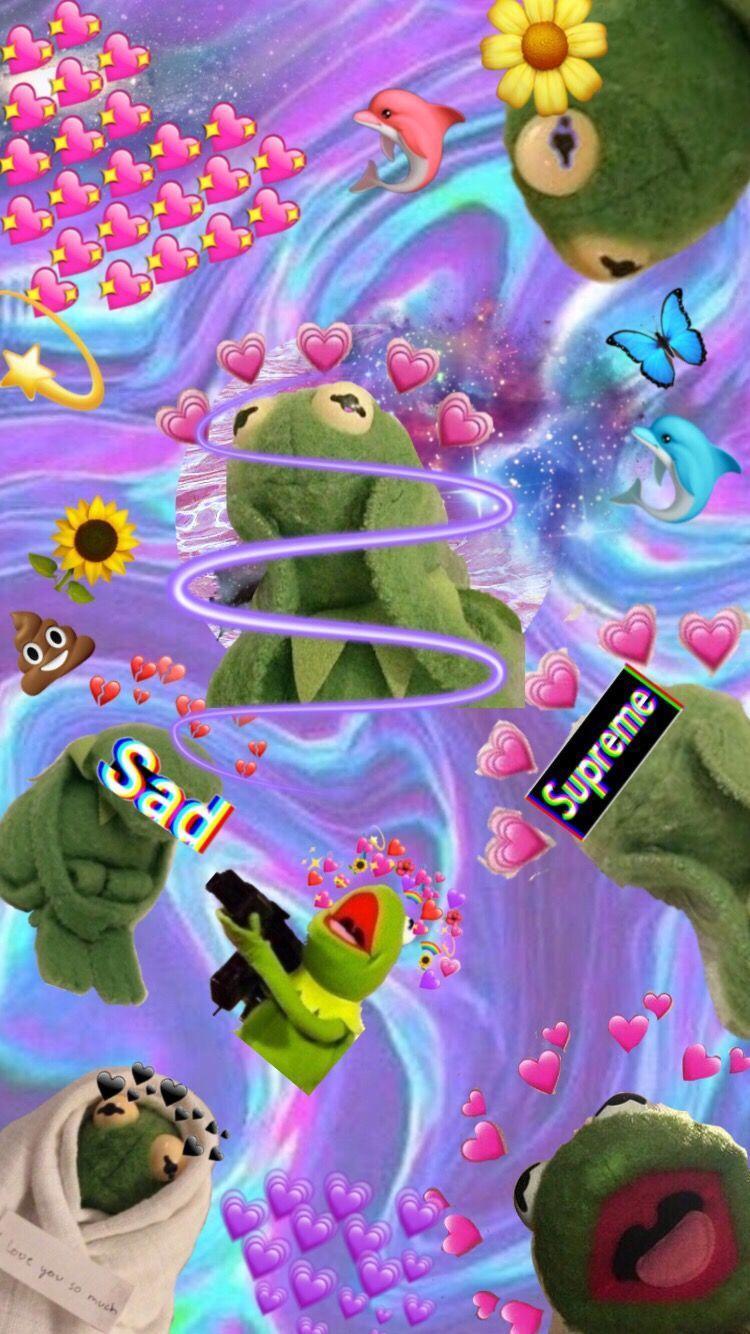 Kermit The Frog Hearts Wallpaper : kermit, hearts, wallpaper, Aesthetic, Kermit, Wallpapers, Backgrounds, WallpaperAccess