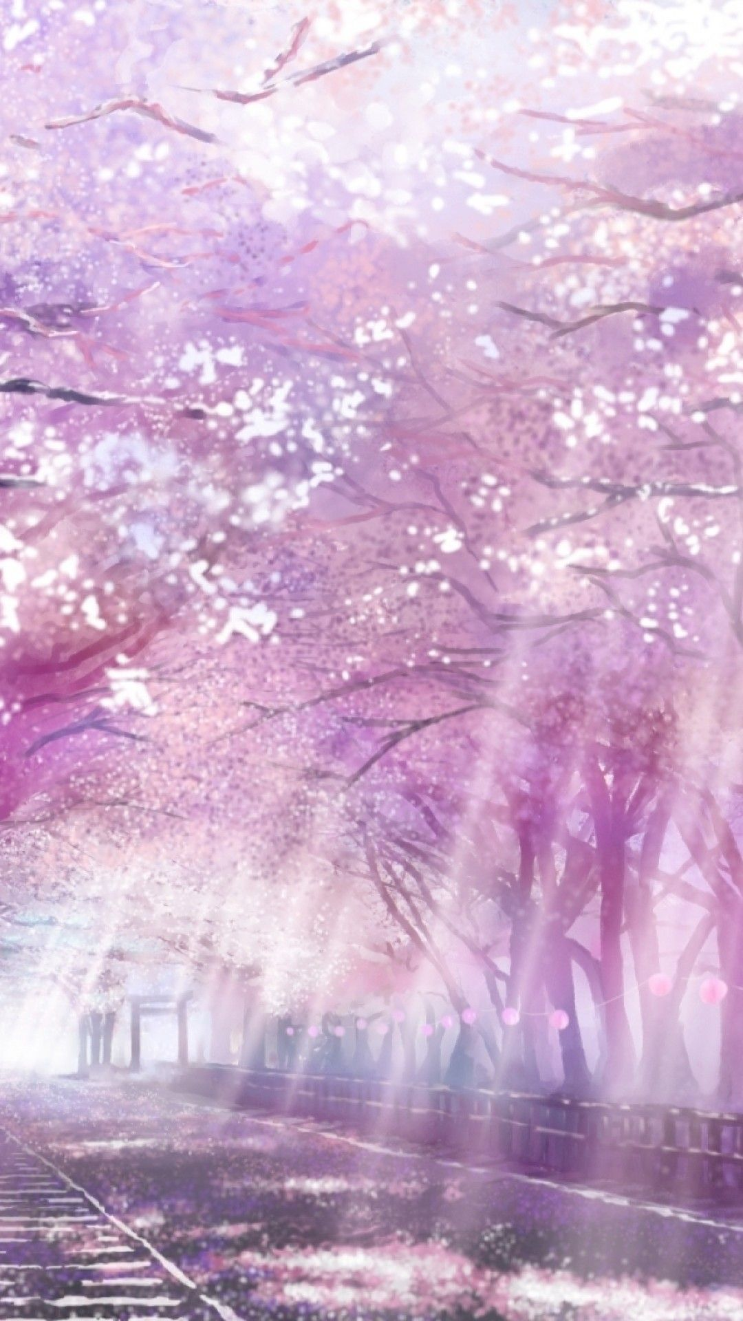 Cherry Blossom Anime Background : cherry, blossom, anime, background, Cherry, Blossoms, Anime, Scenery, Wallpapers, Backgrounds, WallpaperAccess