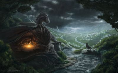 Dragon and Wolf Wallpapers Top Free Dragon and Wolf Backgrounds WallpaperAccess