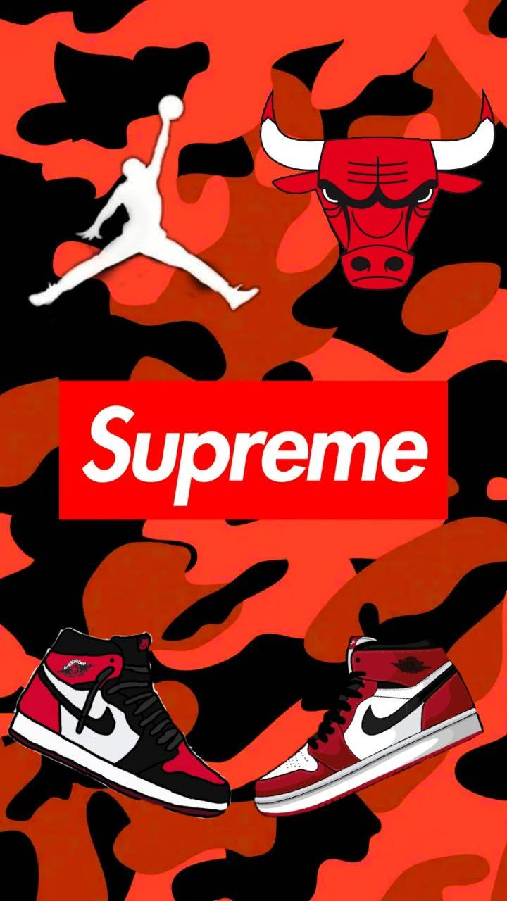 Supreme 1080x1080 : supreme, 1080x1080, Supreme, Shoes, Wallpapers, Backgrounds, WallpaperAccess